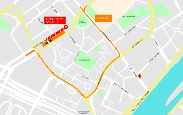 Livraison des premiers colis du tunnelier: fermeture de nuit de l'avenue Gambetta du 6 au 17août