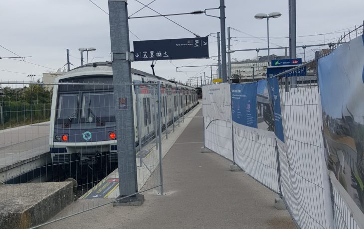 Travaux sur le quai C/D en gare de Poissy – Installation des palissades de chantier depuis lundi 1octobre2018