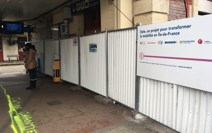 Fermeture de l'accès au couloir de correspondance en gare de Mantes