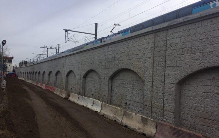 Mur de soutènement : des travaux de terrassement de nuit du 14 janvier au 25 janvier