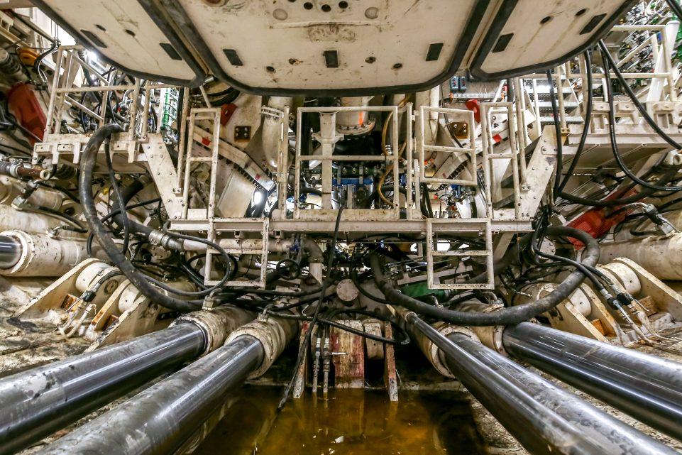 Intérieur du tunnelier