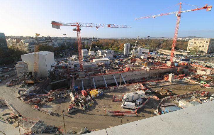 Les travaux de la future gare Porte Maillot en images