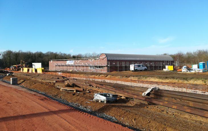 Les travaux du site de garage situé à Issou avancent bien