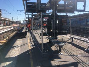 travaux de quai et d'abri quai en gare de houilles, le week end du 22 février