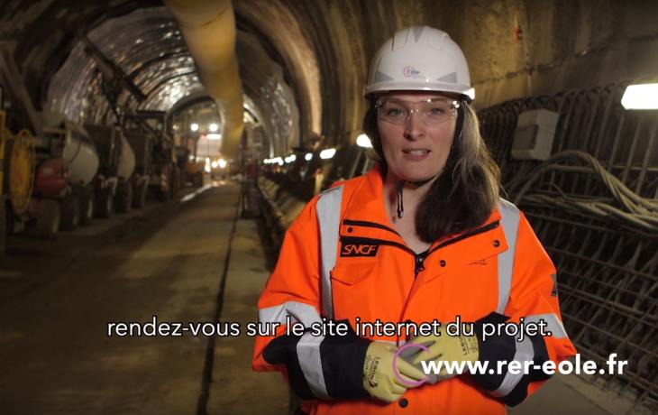 L'actu chantier Eole : le creusement du tunnel avance entre Courbevoie et La Défense !