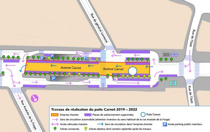 Lancement des travaux du puits «Carnot» dans le 17e arrondissement de Paris