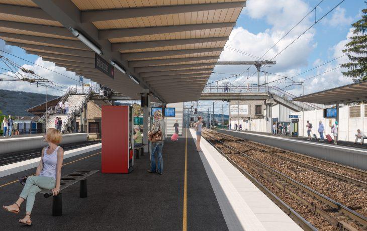 Gare Epône-Mézières : le projet Eole à la rencontre des voyageurs pour présenter les travaux