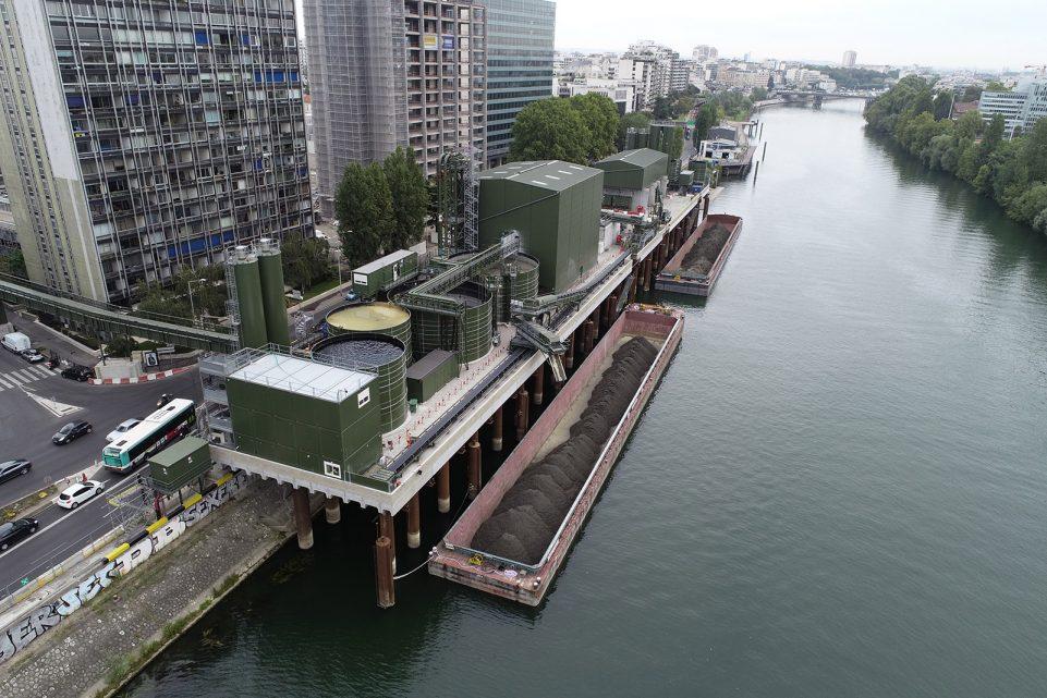 Vue aérienne de la BAse Seine