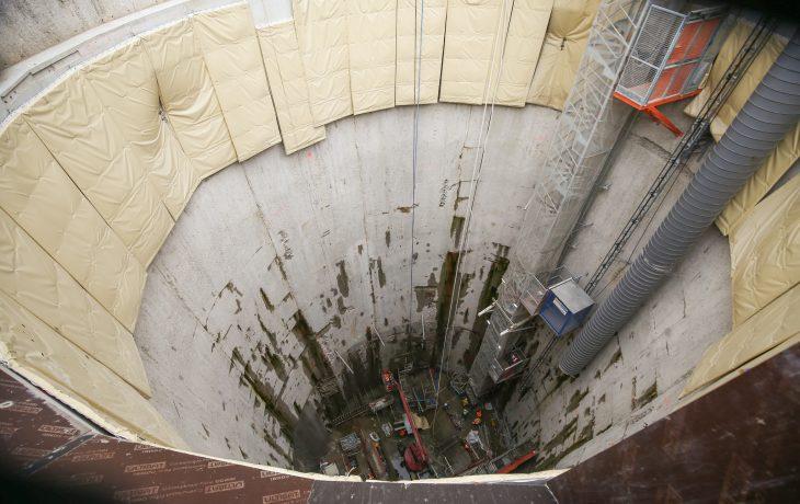 Préparation au passage du tunnelier place Gouraud à Neuilly-sur-Seine