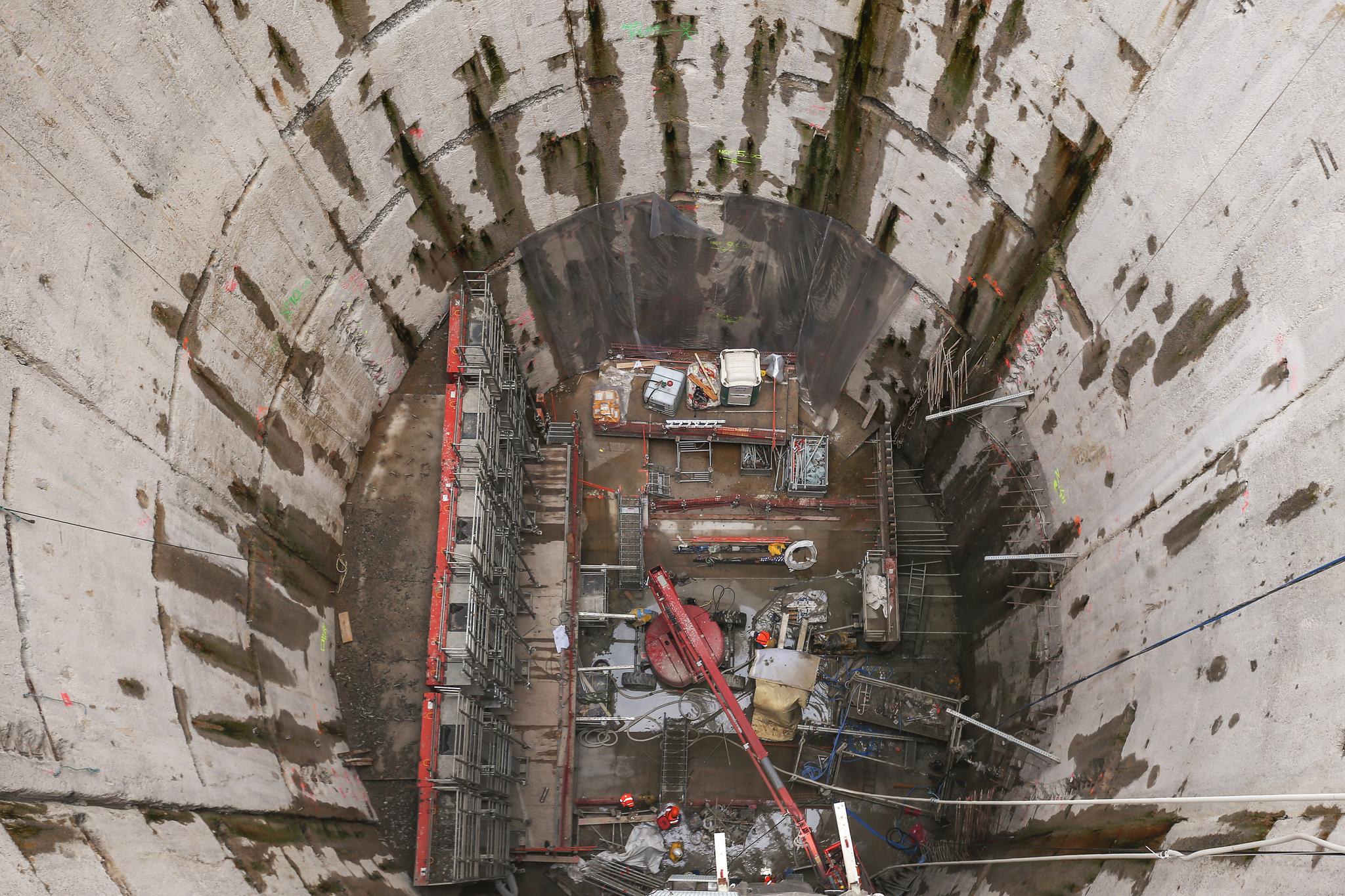 Vue de l'intérieur du puits GFouraud