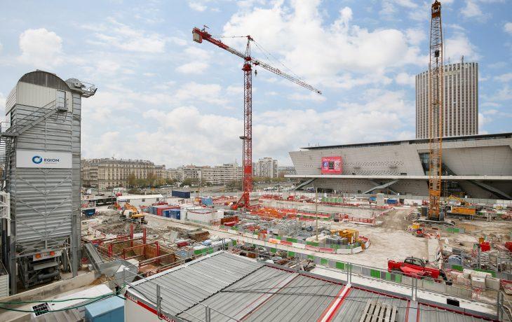 Retour en images sur les travaux de la Porte Maillot- novembre 2019