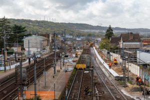travaux en gare d'Epône-Mézières