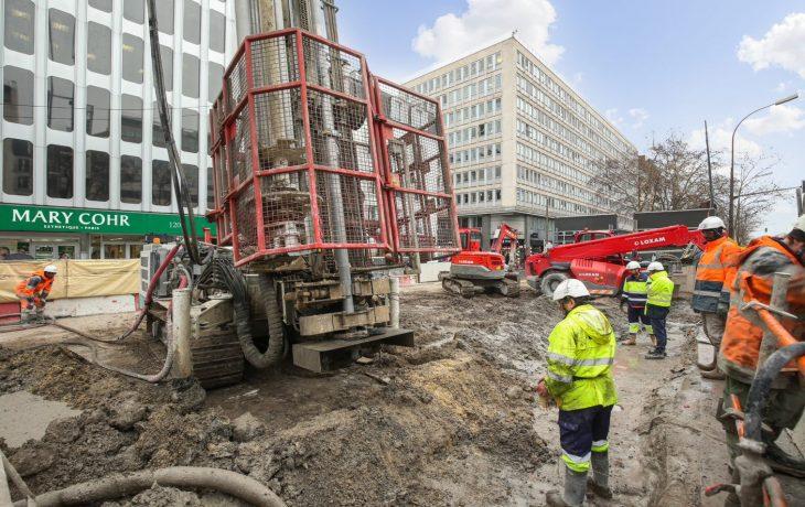 Livraison sur le chantier du Puits Hôtel de Ville, le vendredi 31 janvier 2020 entre 22h et minuit