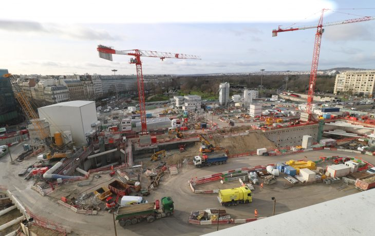Les travaux de la future gare de la porte Maillot en photos