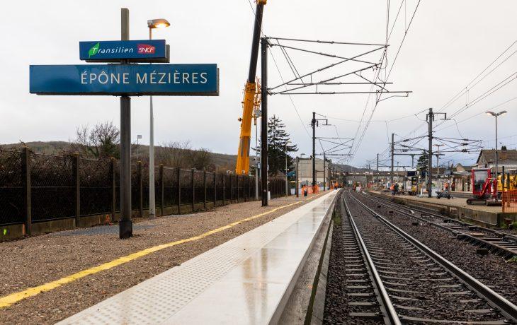 Retour en images sur les travaux du week-end 1 et 2 Février en gare d'Epône-Mézières