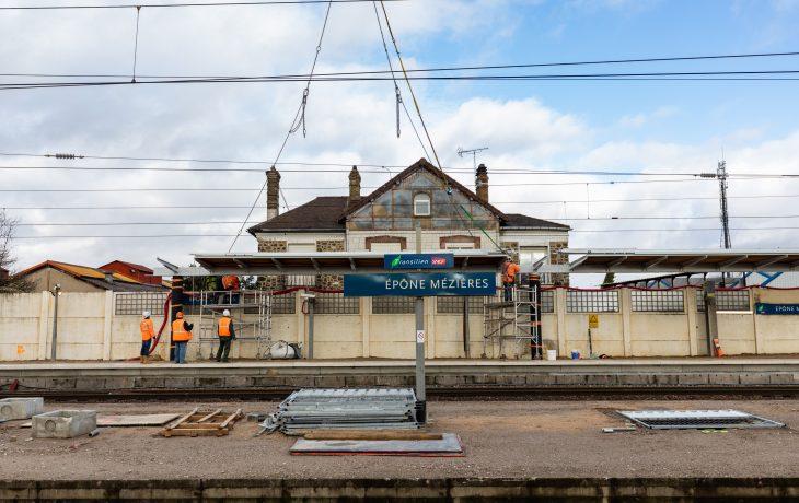 Reprise d'activités progressive des travaux en gare d'Epône-Mézières