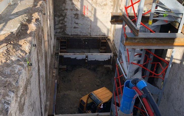 Nouvelle phase travaux : le terrassement du Puits Hôtel de Ville
