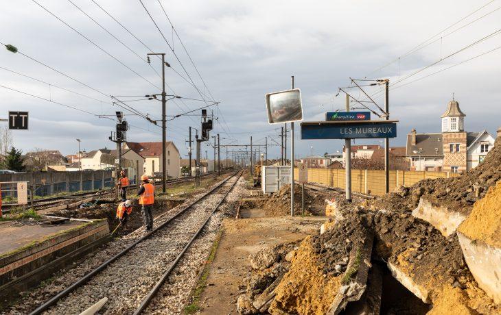 Reprise d'activités progressive des travaux en gare Les Mureaux
