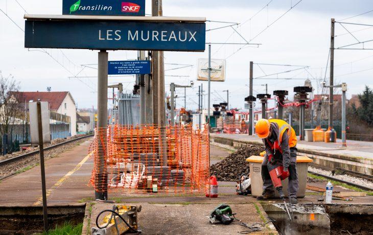Retour en images sur les deux derniers week-ends travaux en gare Les Mureaux