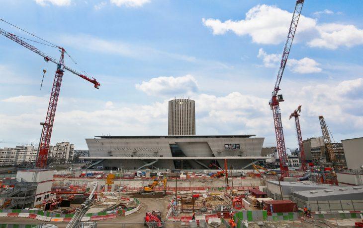 Reprise d'activités sur le chantier à Porte Maillot
