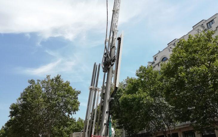 Reprise progressive d'activités du chantier Carnot à Paris 17ème