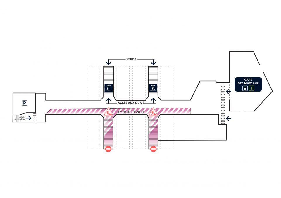 Plan paso travaux Les Mureaux souterrain