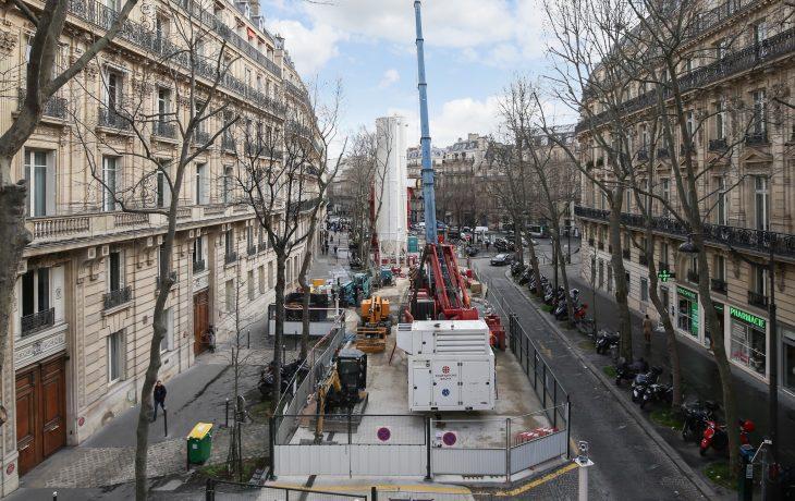 Reprise progressive d'activités sur le chantier Messine à Paris 8ème