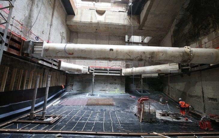 Puits Frontal – Début de la gare Souterraine 2