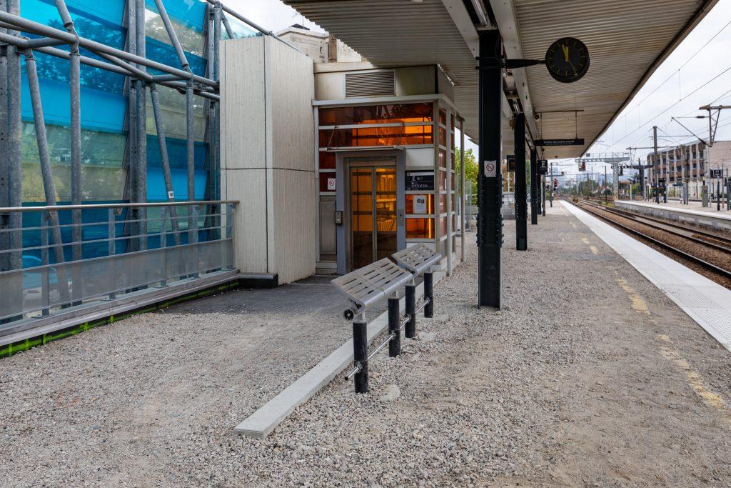 Travaux de rehaussement et prolongement des quais de la gare