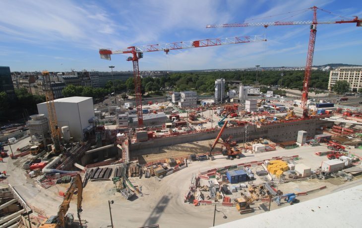 Les travaux de la future gare de la porte Maillot en images au lundi 18 mai