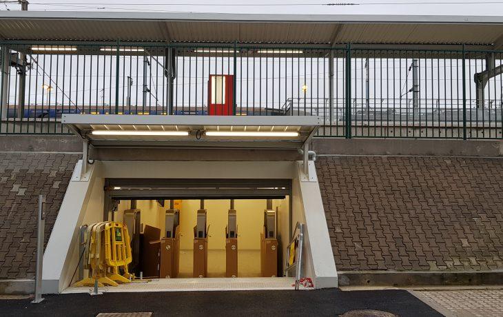 Nouvelle sortie souterraine vue depuis la gare routière