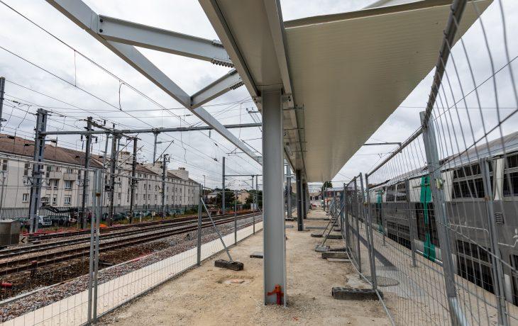 Travaux en gare sur les quais
