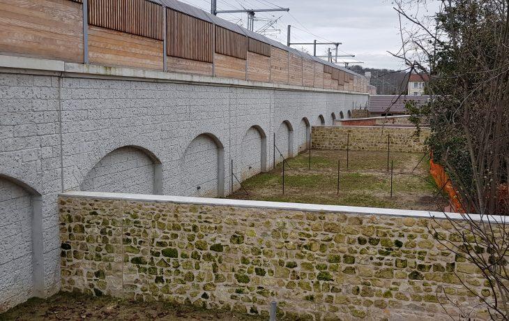 Mur de soutènement et écran acoustique