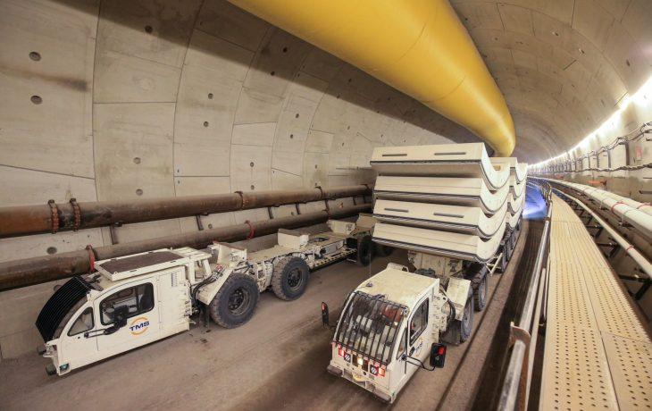 Courbevoie Puits Gambetta : voussoirs du tunnelier