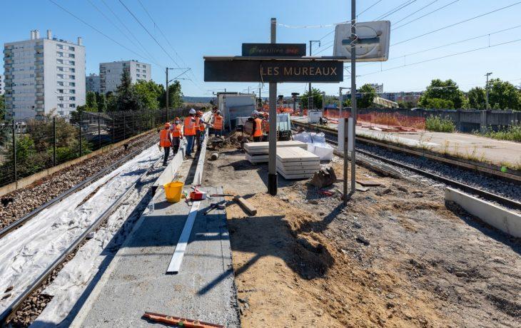 Retour en images sur les deux derniers week-ends travaux en gare des Mureaux