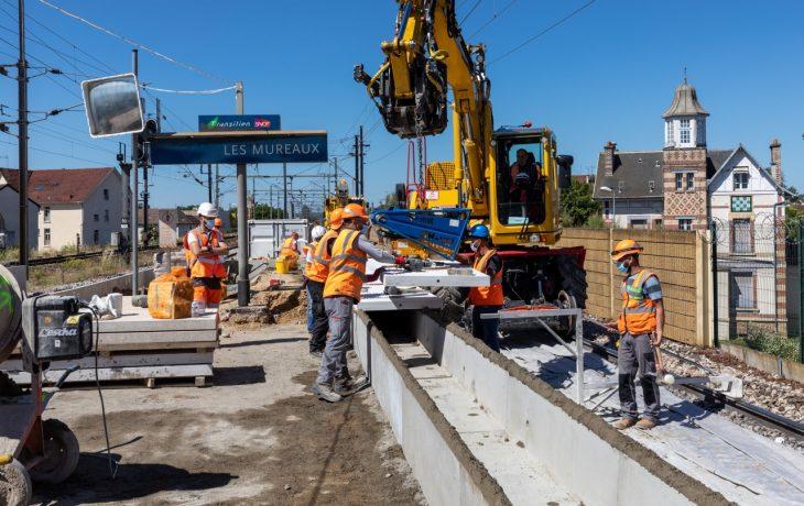 Le prochain week-end travaux en gare Les Mureaux : du 12 au 15 juin 2020.