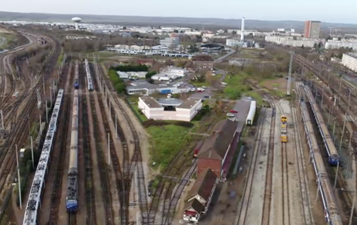 1er week-end travaux ferroviaire au niveau du triangle de Mantes