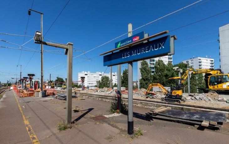 Visite du chantier de la gare des Mureaux en vidéo