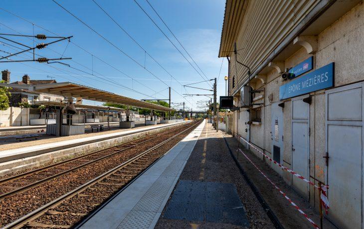 Visite du chantier de la gare d'Epône-Mézières en vidéo