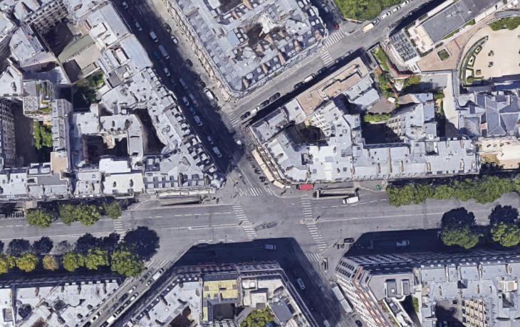 Mise en place d'instruments de mesure dans la rue de Courcelles