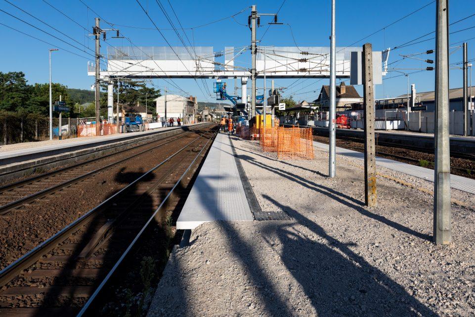 travaux gare d'Epone-Mezières