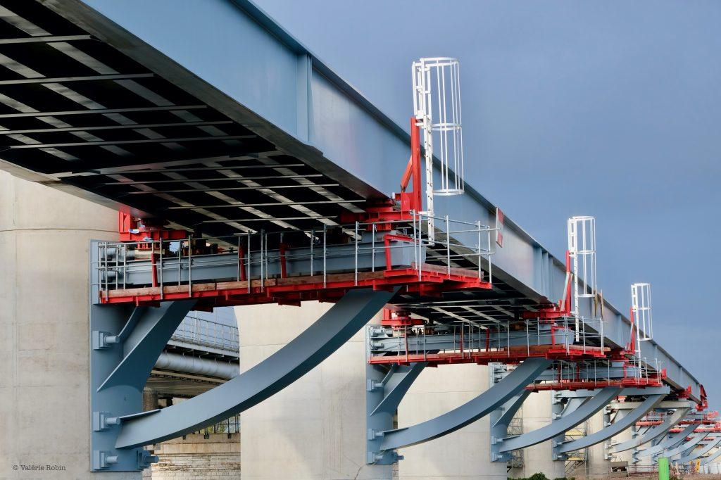 Vue du pont de Bezons