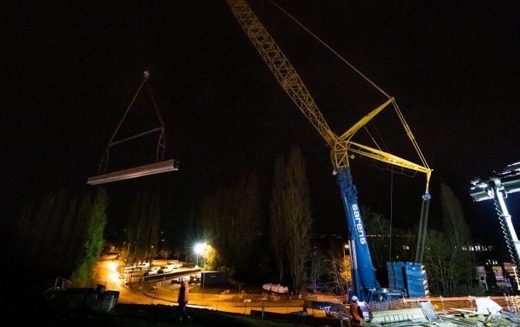 Reportage en images de l'élargissement du pont rail de la Vaucouleurs