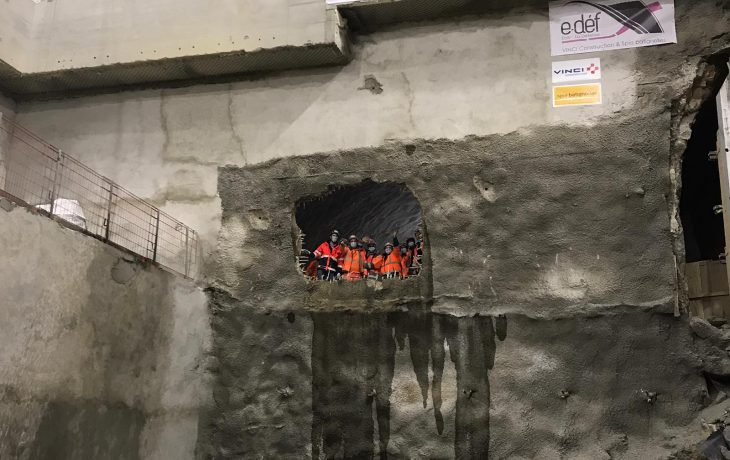 Gare de La Défense – Percements des tunnels