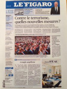 Le Figaro 19 juillet 2016 - Couverture