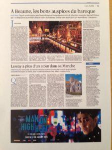 Le Figaro 19 juillet 2016 - Page 13 - Lessay a plus d'un atout dans sa Manche