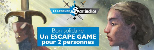 Bon solidaire Escape Game pour 2 personnes