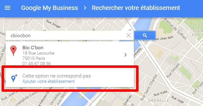 fiche google entreprise