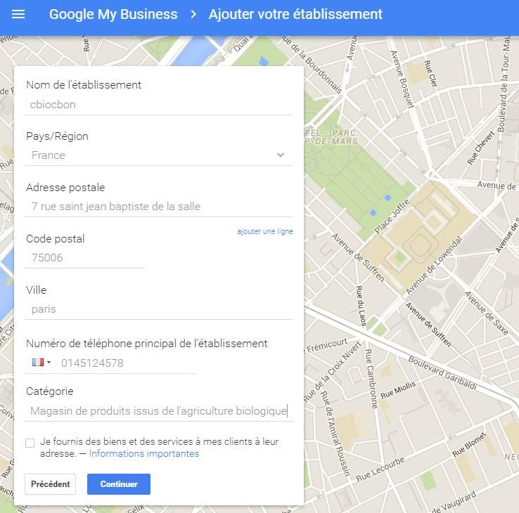 apparaitre sur google maps
