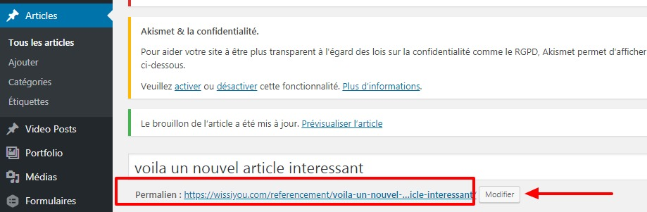 eferencement article wordpress